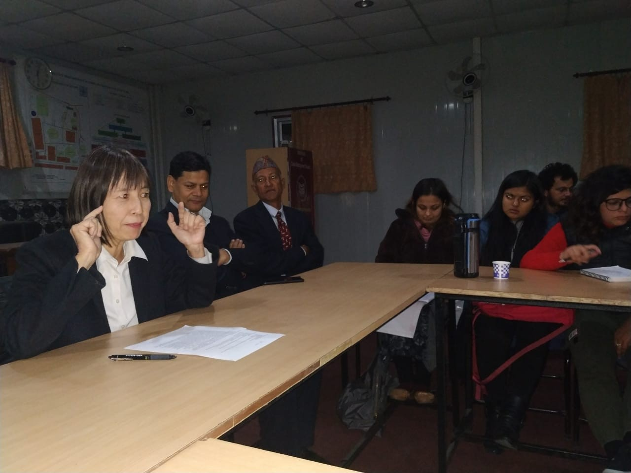 Ms. Yumiko Asakuma Chief Representative of JICA Nepal sharing her experience and knowledge with Master students of Crisis Management form 1st and 3rd semester.